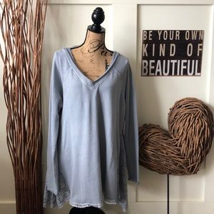 Free People Sky Lace insert tunic